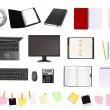 Stockvector : Business and office supplies.