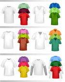 Color t-shirt design template. — Stock Vector