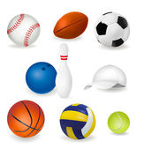 Big set of sport balls. — Stock Vector