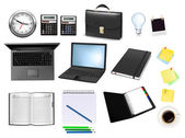 Business and office supplies. — Stock vektor