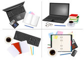 Big set of business and office backgrounds. — Stock Vector