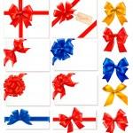 Большая коллекция бантов подарок цвет с лентами вектор — Cтоковый вектор