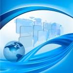 elegante astratto business con illustrazione vettoriale globo — Vettoriale Stock