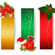 Royalty-Free Stock Vector Image: Set of winter christmas backgrounds. Vector illustration