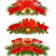Three christmas banners. — Stock Vector #8175727