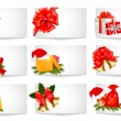 Set of winter christmas banners. Vector illustration. — Stock Vector