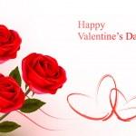 Valentine`s fond de jour. roses rouges et cadeaux arcs rouges. vecteur illustratio — Vecteur