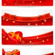 Stock Vector: Set of holiday banners. Vector illustration.