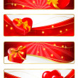 Set of holiday banners. Vector illustration. — Stock Vector