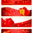 Collection of colorful of Valentine's banners. Vector. — Vettoriali Stock