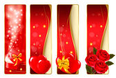 Collection of colorful of Valentine's banners. Vector. — Vector de stock