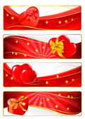 Collection of colorful of Valentine's banners. Vector. — Stock Vector