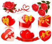 Sada prvků valentine — Stock vektor