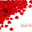 Background of red rose petals. Vector - Stock Vector