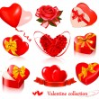 Set of Valentine's day elements. Vector illustration. — Imagen vectorial