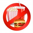 Fast food danger label. Vector illustration. - Stock Vector