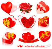 Set of Valentine's day elements. Vector illustration. — Stock Vector