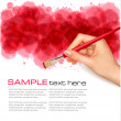 Abstract watercolor background with hand. Vector illustration. — Stock Vector #8876212