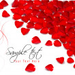 Royalty-Free Stock Vector Image: Background of red rose petals.  Vector illustration.