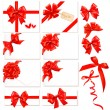 Royalty-Free Stock Vector Image: Collection of red bows with ribbons. Vector.