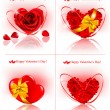 Set of Valentine`s day banners. — Stockvektor