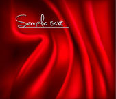 Red satin background. Vector illustartion. — Vettoriale Stock
