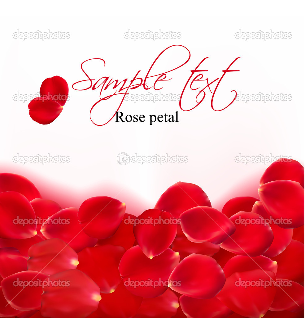 Background of red rose petals. Vector — Stock Vector #8876255