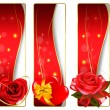 Collection of colorful Valentine banners. Vector. — Imagen vectorial
