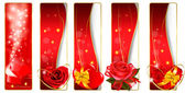 Collection of colorful Valentine banners. Vector. — Stock Vector