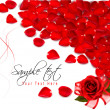 Background of red rose petals. Vector — Image vectorielle