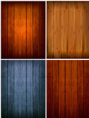 Set of wood backgrounds. Vector illustration — Stock Vector