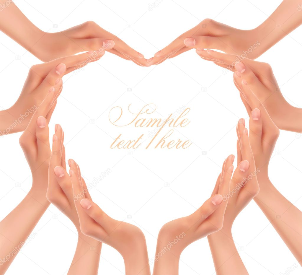 Hands making a heart Vector illustration — Stock Vector © almoond ...