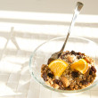 Nutritious bowl of muesli — Stock Photo