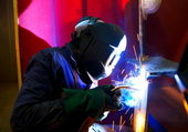 Factory Welder — Stock Photo