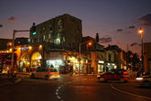 Street of Jaffa city, Tel Aviv in the night, Israel — Stock Photo