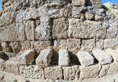 Ancient Roman in WC in Caesarea — Stock Photo