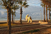 Evening beach Ashdod — Stock Photo