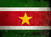 Grunge Flag Suriname — Stock Photo