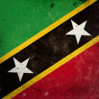 Grunge Flag Saint Kitts and Nevis — Foto Stock