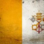 Grunge Flag Vatican City — Stock Photo