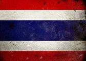 Grunge drapeau thaïlande — Photo