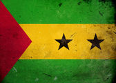Grunge Flag Sao Tome and Principe — Stock Photo