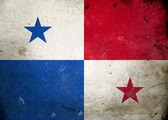Panama bandiera grunge — Foto Stock