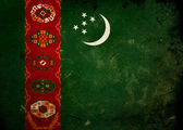 Grunge Flag Turkmenistan — Stock Photo