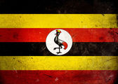 Grunge Flag Uganda — Stock Photo