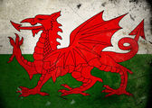 Grunge Flag Wales — Stock Photo