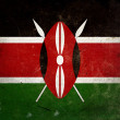 Grunge Flag of Kenya — Stock Photo