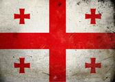 Grunge Gürcistan bayrağı — Stok fotoğraf
