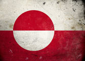 グランジ グリーンランドの旗 — ストック写真