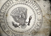 Grunge Presidential Seal of the USA — Stock Photo